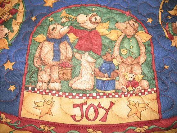 Quilted Christmas Tree Skirt Joyful Angels 96