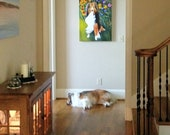 custom pet portrait painting,12X12 or 11X14 linen canvas, dog, cat, rabbit, hedgehog, etc.