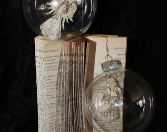 Set of 2  Hymnal Angel Ornaments