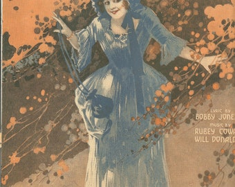 Vintage 1909 Everybody's Crazy Over Dixie Sheet Music