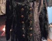 SALE 60s faux fur double breast dark brown jacket SALE was 65