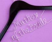 Mother of the bride Wedding Hanger, Personalized Custom Bridal Hanger, Brides Hanger, Bride Name Hanger, Personalized Bridal Gift