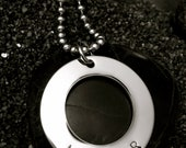 Mr and Mr Hand Stamped Stainless Steel Necklace