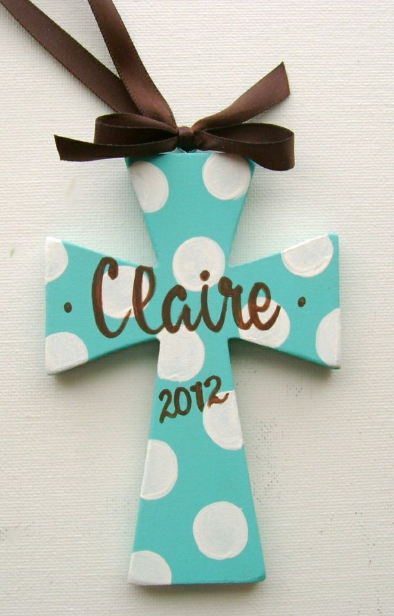 Items similar to hand painted personalized kids wooden for Cheap wooden crosses for crafts
