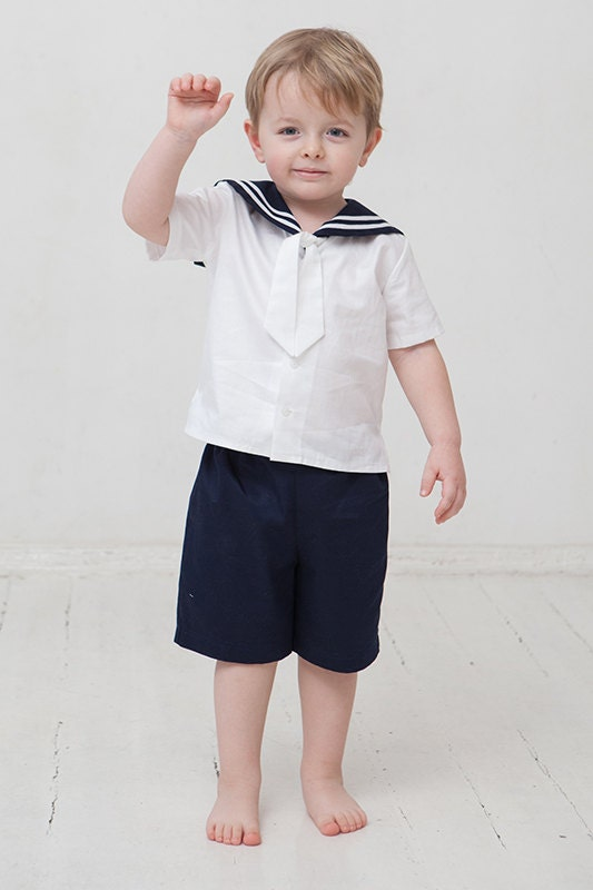A sailor suit is a uniform traditionally worn by enlisted seamen in the navy, and other government funded sea services. It later developed into a popular clothing style for children, especially as dress clothes.