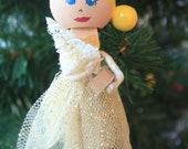 Ballerina Ornament. Christmas Ornament. Clothespin Doll.