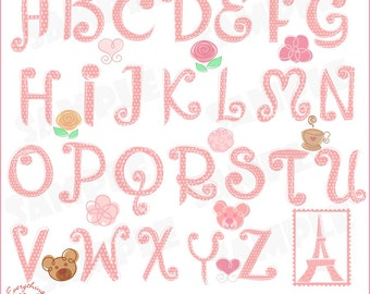 ABC Paris Clip Art Set