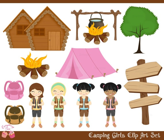 Girl Scout Camping Clipart Camping Girls Clip Art...