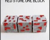 Minecraft Inspired Redstone Ore Block