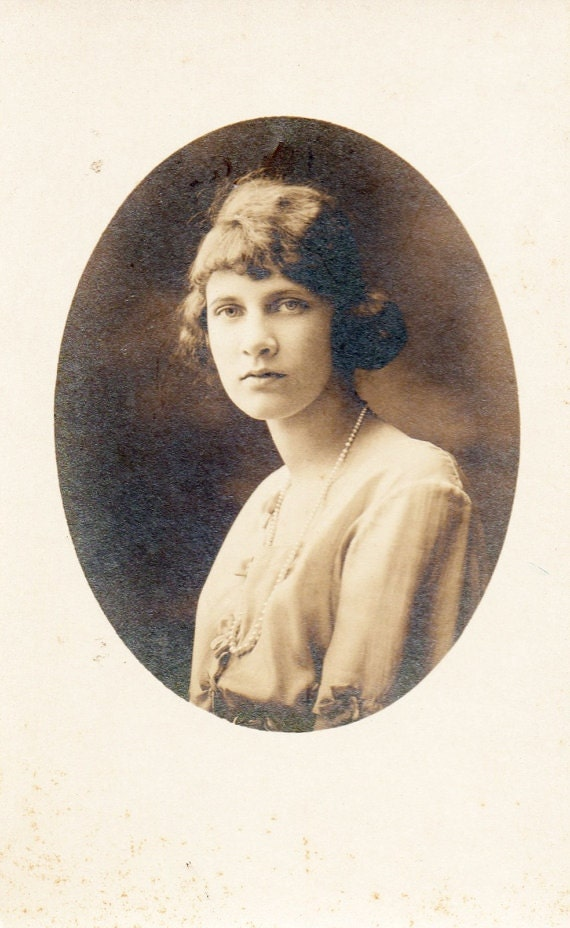 Sepia Photographs of Young Woman / 1920s Photographs / Vintage Photographs