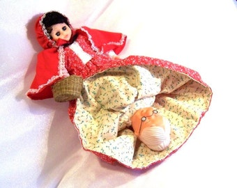 Vintage Fairy Tale Doll: Topsy Turvy Red Riding Hood & Grandma Doll, Upside Down Doll - S1018