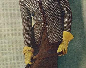Almost FREE Vintage 1948 Bermuda Checks Dress Suit 814 PDF Digital Knit Pattern