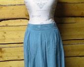 Sage Green 100% silk maxi skirt