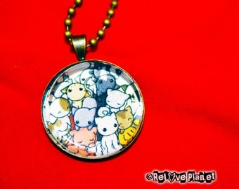 "Pile of Kitties 1"" Pendant Necklace - or 2 for 20 - Happy - ReLove Plan.et"