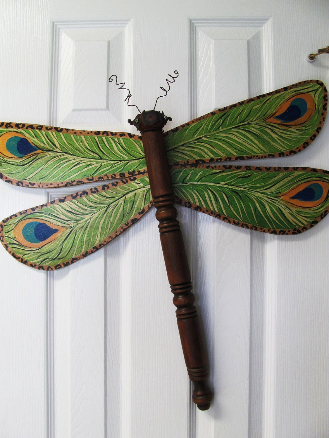 Table leg dragonfly wall or garden art by lucydesignsonline for A decoration that is twisted intertwined or curled