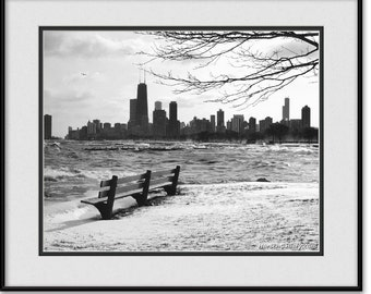 Chicago Black and White Art - Chicago Winter