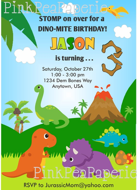 Dinosaur First Birthday Invitations is luxury invitations layout