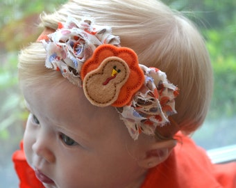 Baby headband, Thanksgiving Little Turkey Baby Headband, Toddler Headband, Newborn Headband, infant headband, baby accessories