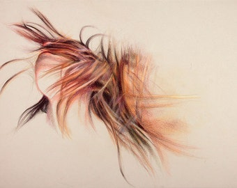 "Original Colored Pencil Drawing, ""Euphoria"""