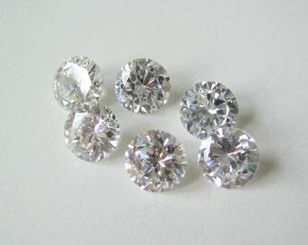 2 Cubic zirconia CZ stones 7mm round