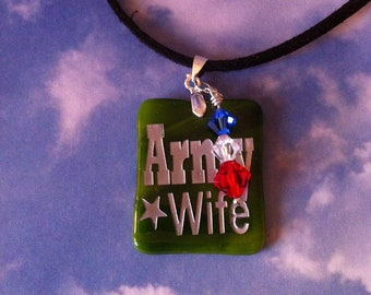 Army Wife Sandcarved Pendant