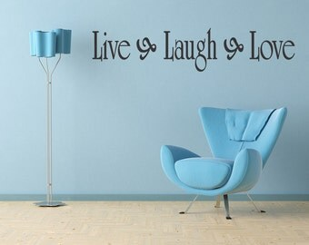 Live Laugh Love Vinyl Wall Quote Decal Family Home Decor Inspirational Sticker (01)