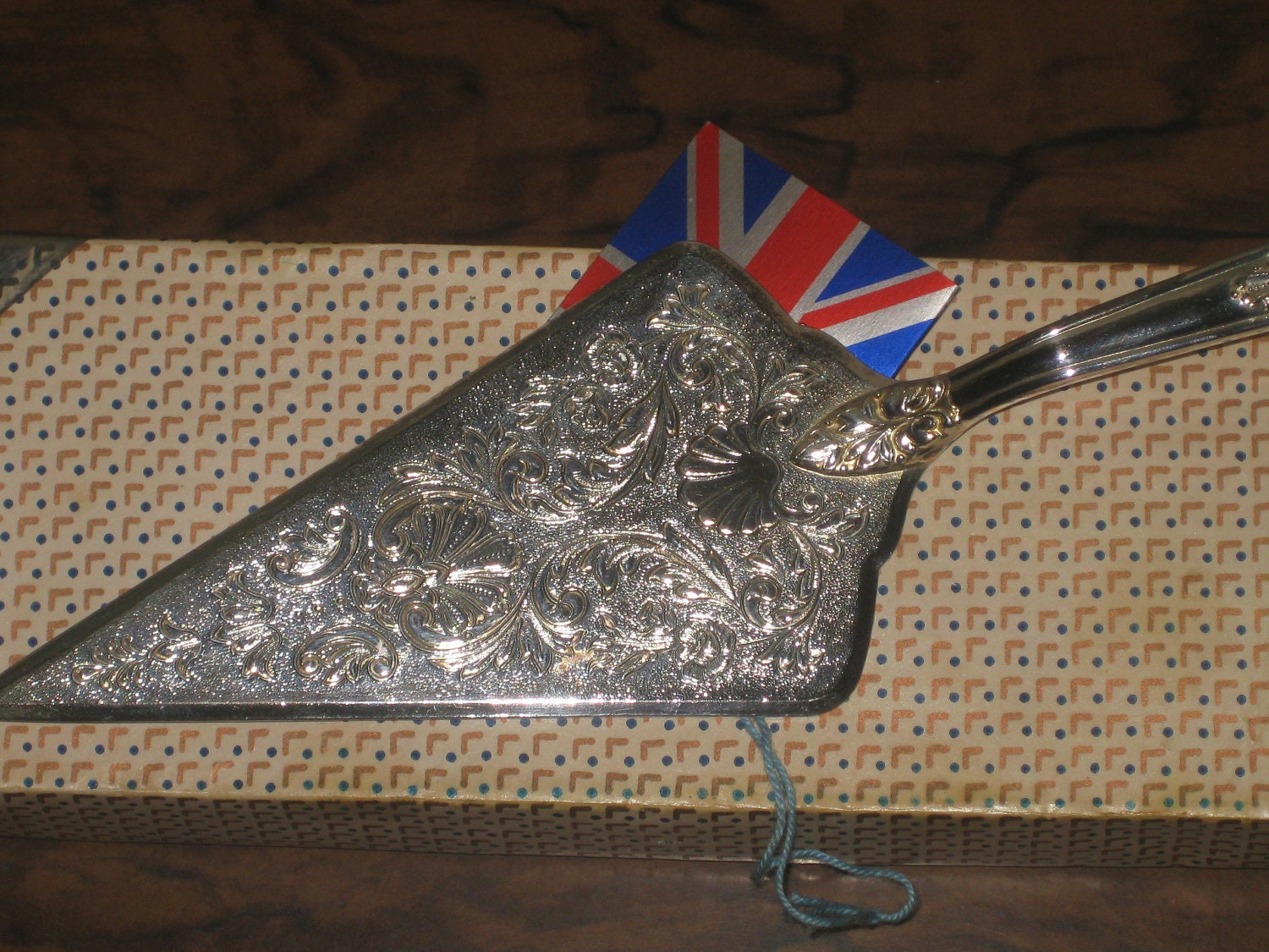Vintage Silver Plated Wedding Cake Server And Knife Cake