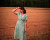 Retro Dress Turquoise