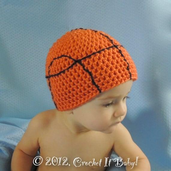 Crochet Basketball Hat 5 Sizes PATTERN ONLY