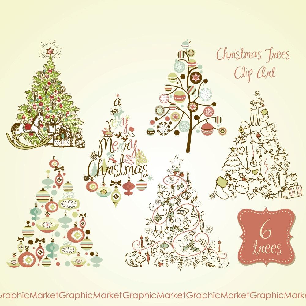 zoom - Retro Christmas Trees