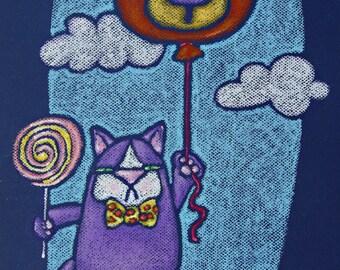mini canvas art print - mr wooger