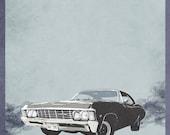 Supernatural Impala (Movie Poster)