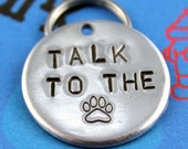 Unique Pet Tag - Handstamped Aluminum Dog Tag, Customized Dog ID Tag