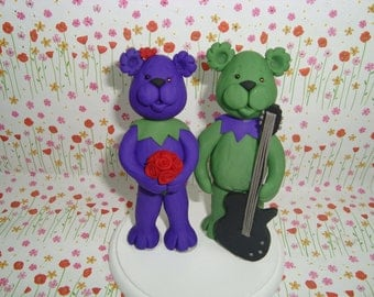 Custom Bear Wediing Cake Topper
