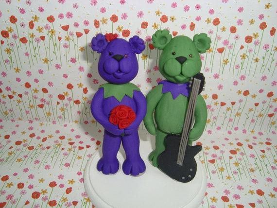 Custom Bear Wediing Cake Topper