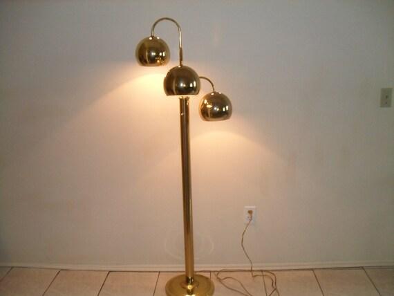 Reserved for carolinetriple gold tone globe eames era floor for Gold globe floor lamp