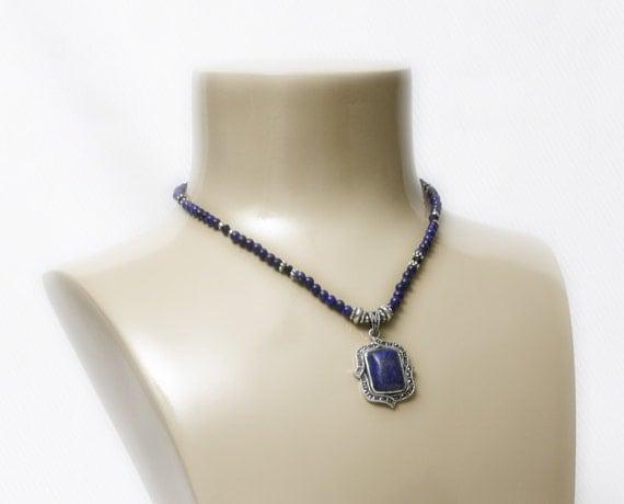 Stress Releaser...Blue Lapis Necklace
