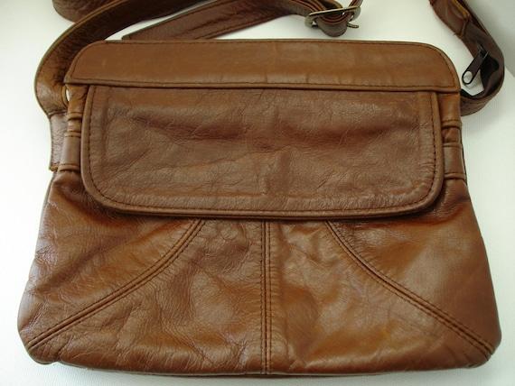 Vintage Brown Patchwork Leather Hand/Shoulder Bag Purse