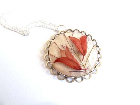 Real Flower Necklace, Pressed Flowers Resin, Dried Pressed Flowers, Real flower jewelry, Nature jewelry, resin jewelry