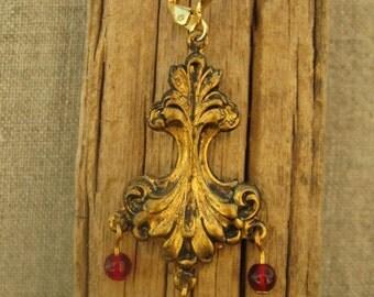 Victorian Stylized Floral Drop Earrings