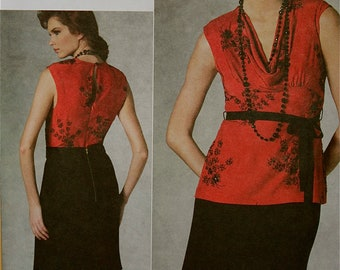 Top & Skirt by Tracy Reese Vogue American Designer Pattern 1203 Uncut Size  6-8-10-12  or 14-16-18-20