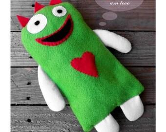 Green fleece Monster Soft Toy Comforter For Kids  - FREE SHIPPING international