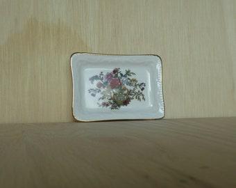 Tree of Kashmir Paragon fine bone china square pin dish