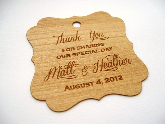 Wedding Favor Tags, Rustic Wedding Decor, Rustic Decor, Gift Tags ...