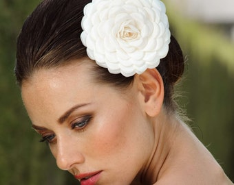 Bridal Flower Hair Accessory Headpiece by Veils of Art Style VE601