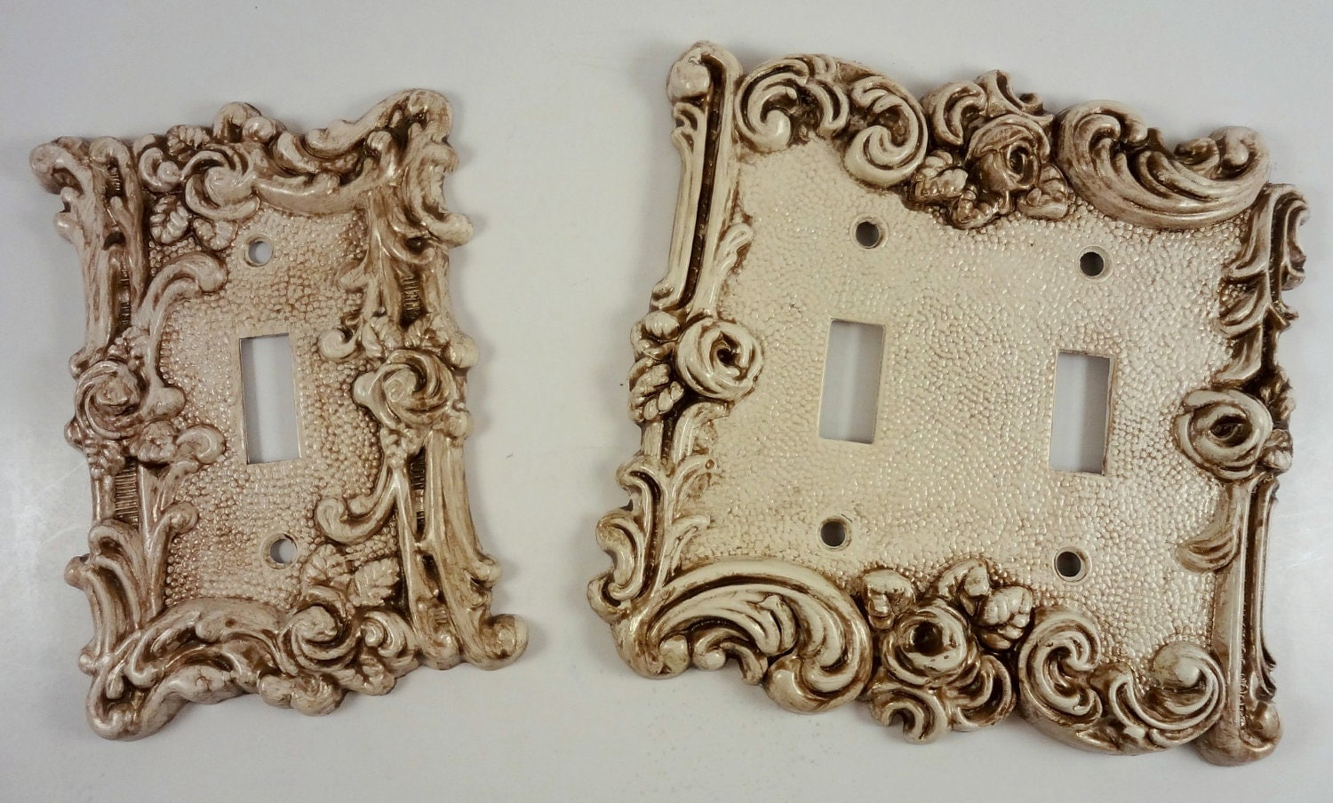 Vintage Metal Light Switch Covers Upcycled By Rockintherust