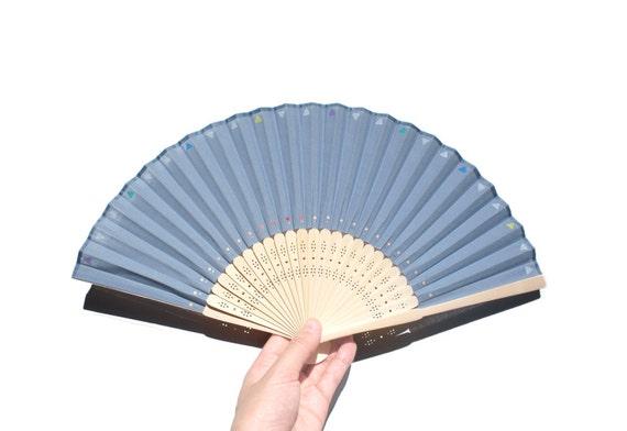 Hand painted Folding fan, Hand fan, spanish fan, japanese fans, One of a kind