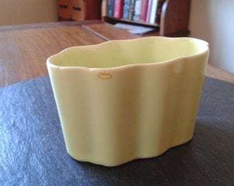 California pottery small mid century modern Grad Father's day chartreuse planter incense burner candy desk organizer office vintage gift