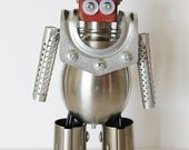 Robot Handmade Vintage Metal Assemblage