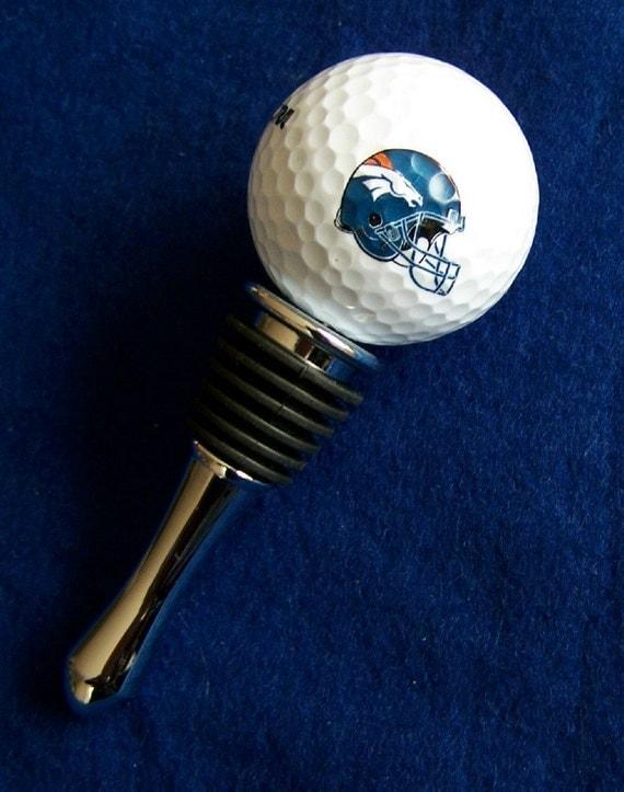 Denver Broncos, NFL Wilson Golf Ball Wine Stops
